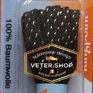 Ringpoint schoenveter fine flat 60 - kleur zwart zilver
